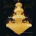 Large gold lobby incandescent luminaire pendant chandelier 65004
