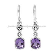 Beautiful Amethyst Gemstone 925 Sterling Silver Earring