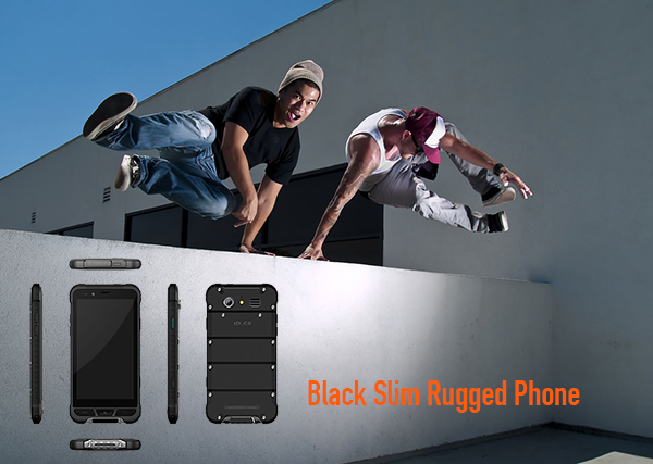 Black Slim Rugged Phone