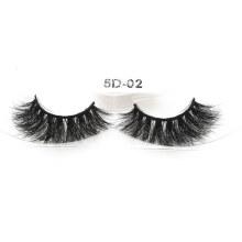 Handmade Eyelashes Wholesale Custom Package 3D 5D 25mm Mink Fur Strip Eyelashes
