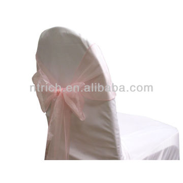 pink, vogue crystal organza chair sash tie back,bow tie,knot,wedding chair cover and table cloth
