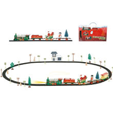 Lighting DIY Xmas Train Santa Gifts Blocks Chrsimas Toy