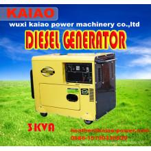 3kw pequeño generador diesel portable para el uso casero y el uso de la oficina, uso de la fábrica. ¡Buen precio!