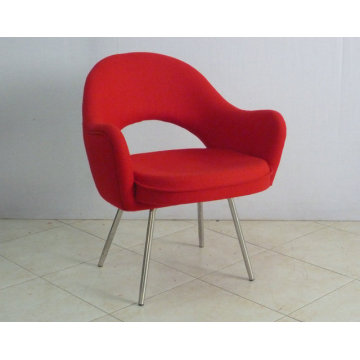 Saarinen Executive Arm Chair Chaise de salle à manger en tissu moderne