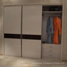 Meuble de chambre moderne Porte coulissante / porte ouverte Armoire (alimentation directe en usine)