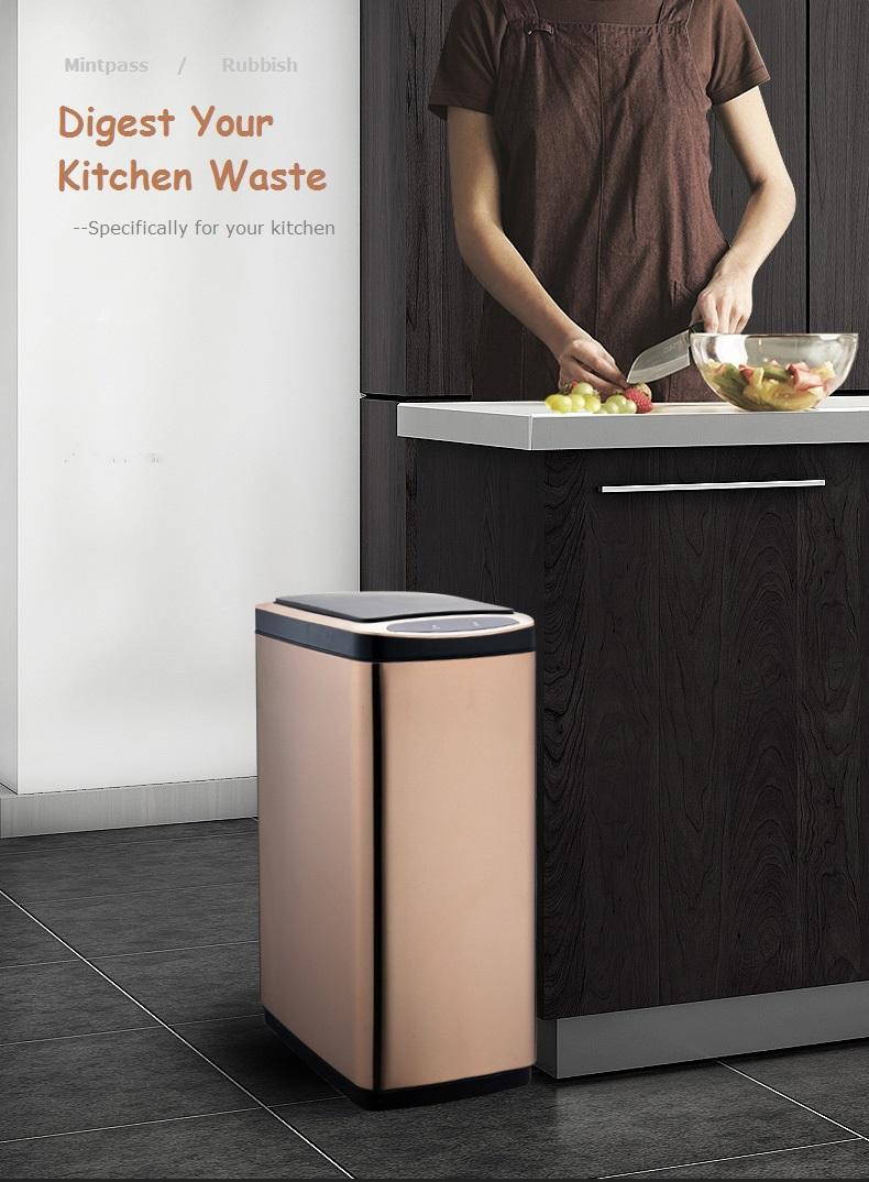 Side-open Sensor trash bin trash can for kitchen