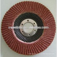 Roda de aba 100x16mm para metal, 80m / s