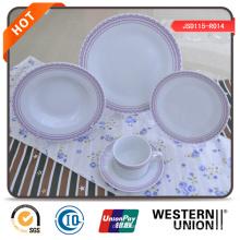 Set de cena de cerámica de forma redonda