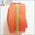 (5 #) Gold Zähne Nylon Long Chain Zipper