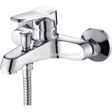 KTM-08 new arrival dual hole in-wall solid copper chrome finished shower room hardware bath tub faucet