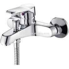 КТМ-08 новое прибытие двойной отверстие в стене твердая медь хромированная отделка душевая комната аппаратных ванной кран