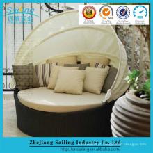 Cheap Rattan Beach Outdoor Furniture Day Bed Sun Lounge Definição de camas redondas