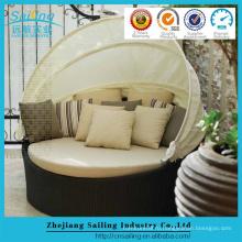 Дешевый Ротанг-Бич Уличная мебель Дневная кровать Sun Lounge