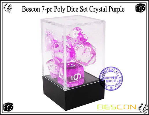 Crystal Purple Dice Set-3