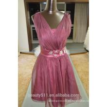 EN STOCK Vestido de seda verdadero SE13 del vestido de las mujeres del vestido de partido de las correas de hombro-correas