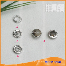 Mode Perle fünf Pfoten Snap Button / Greifer MPC1005