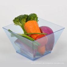 Tablette Einwegschale Plastikschüssel Quadrat Schüssel 17 Unzen