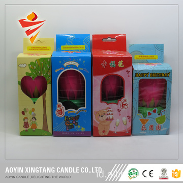 Box Packing Plastic Flower Birthday Fireworks Candle
