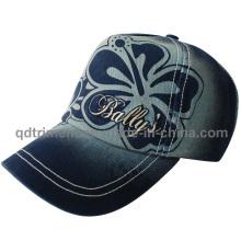 Wahsed Discharge Print Broderie Leisure Baseball Cap Hat (TMB2001)