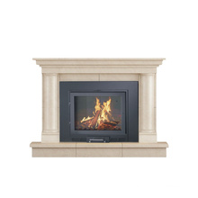 Cheap classic wood buring fireplace modern wall screen fire place