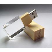 Kristal Kayu USB 2.0 Flash Drive Memory Stick