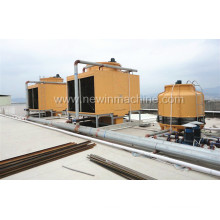 Fiberglass Cross Flow Square Cooling Tower for Air Conditioning Industry