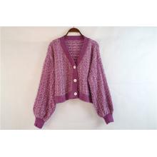 Пурпурный свитер-кардиган на заказ