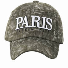 Fashion Custom Made Washed Cotton 6 Panel Baseball Cap