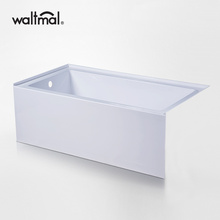Klasik Perendaman Alcove Tub di High Gloss Putih