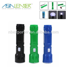 Rechargable zoom focus high quality mini LED flashlight