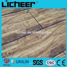 Piso de lamiante de madeira imitado com revestimento de laminado de clique fácil