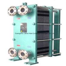 Trocador de calor de placa de titânio para óleo de refrigeração de água do mar
