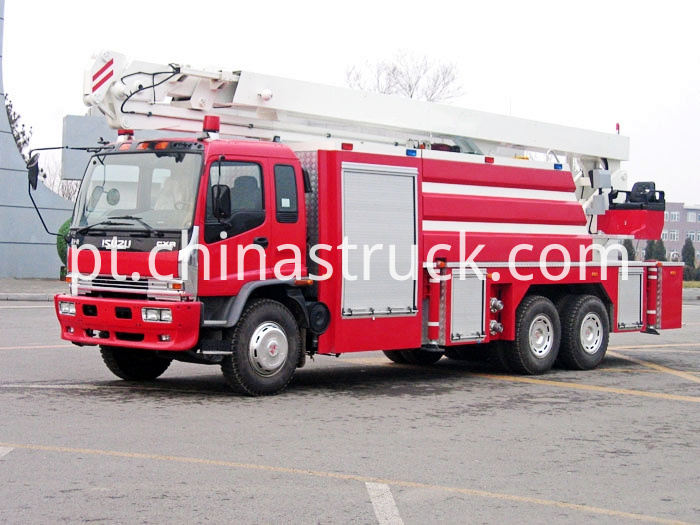 Isuzu Water Tower Hydraulic Boom Fire Truck Jp25