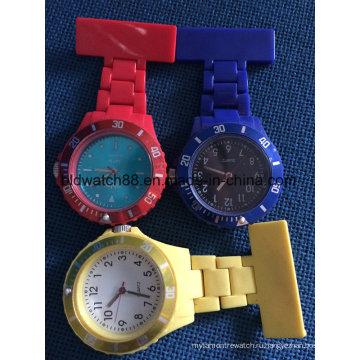 Водонепроницаемый пластиковый медсестра FOB карманные часы для медсестры подарок