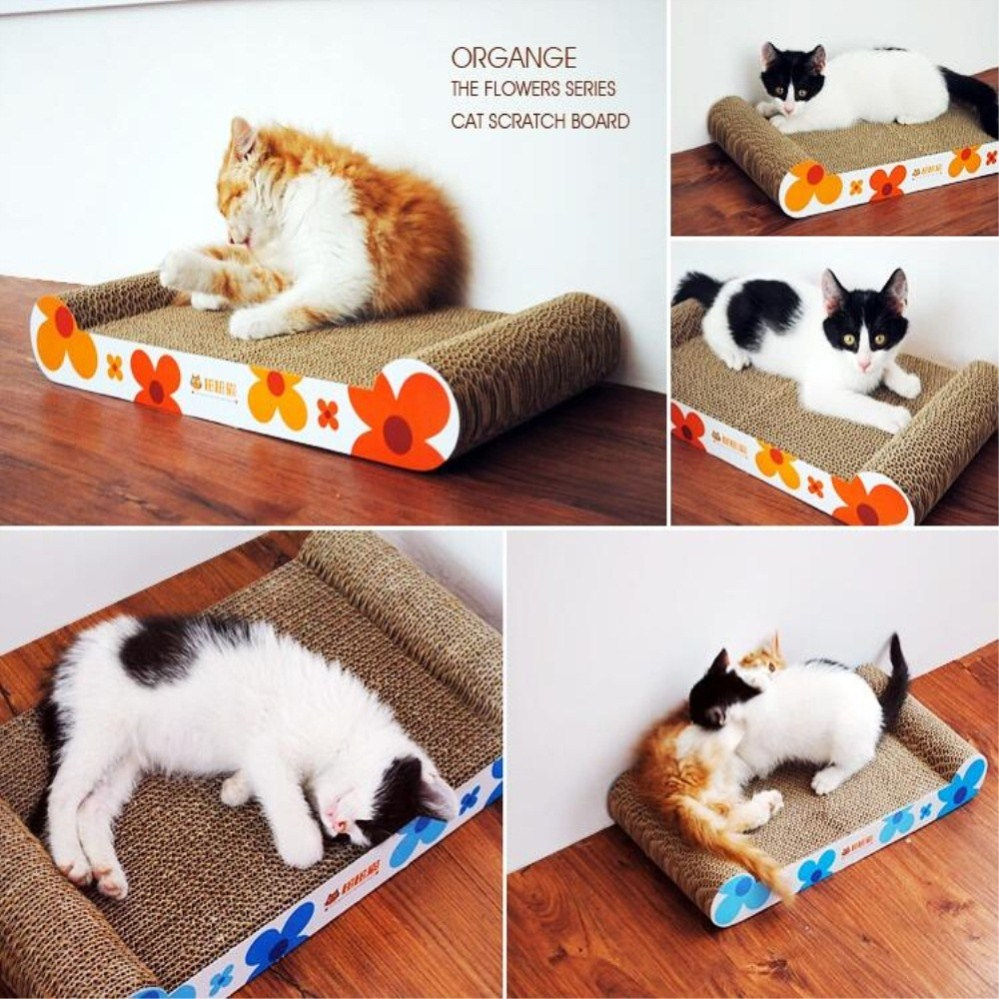 modern cat scratching board