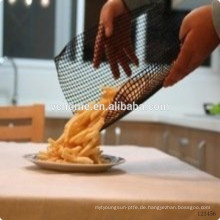 China Fabrik Lieferanten PTFE Nonstick Black Pizza Mesh Ofen Blatt / BBQ Grill Mesh Matte
