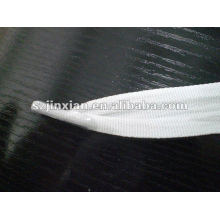 polyester white flat bag handle with plastic clips