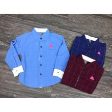 camisa européia e coreana dos meninos da forma / camisas de algodão para meninos caçoa