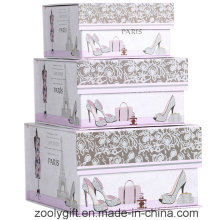 Boîte à cadeau de rangement de cadeau en forme de carré en forme rectangulaire avec fermeture à volet aimant
