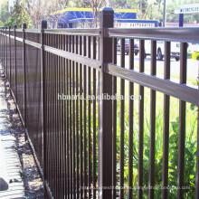 Cercado de acero del piquete del metal del patio trasero de la seguridad / cerca de acero al aire libre para las casas