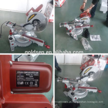 "255mm 10 ""1900W Power Madeira / Alumínio Cutting Circular Saw Elétrica Slide Miter Saw"
