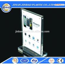 placa de identificação de mesa de acrílico usar placa de acrílico transparente