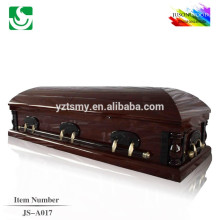 American style solid wood luxury wholesale mahogany casket