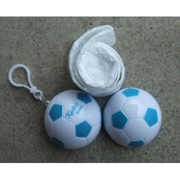 PE rain poncho in football