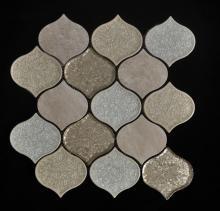 Copo de porcelana de gota de água da telha mista Mosaic