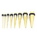New Silver Color Titanium Anodized Ear Taper Kit 14G-00G gauges expander set