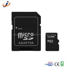 Cartão micro SD de 512 MB com adaptador