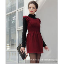 Red Summer Short Flared Dresses For Office Ladies / Womems , Cap Sleeve