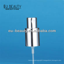 Luxe shiny silver perfume pump sprayer for glass bottle