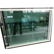 Vidrio templado de persiana hueca aislante empotrada con persiana